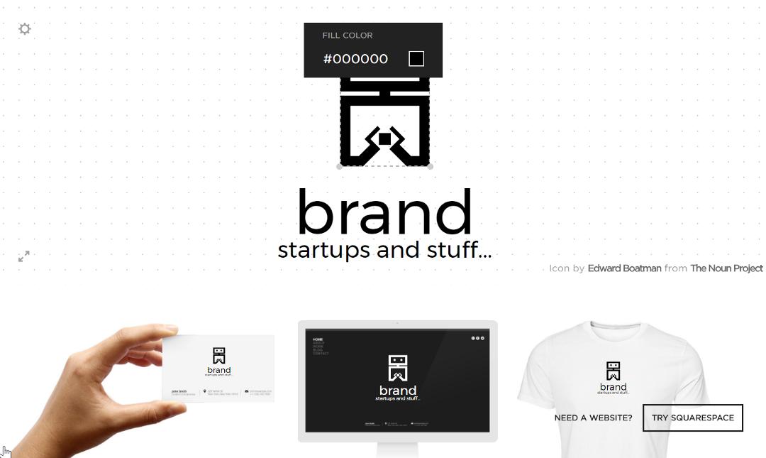 Squarespace logo generator